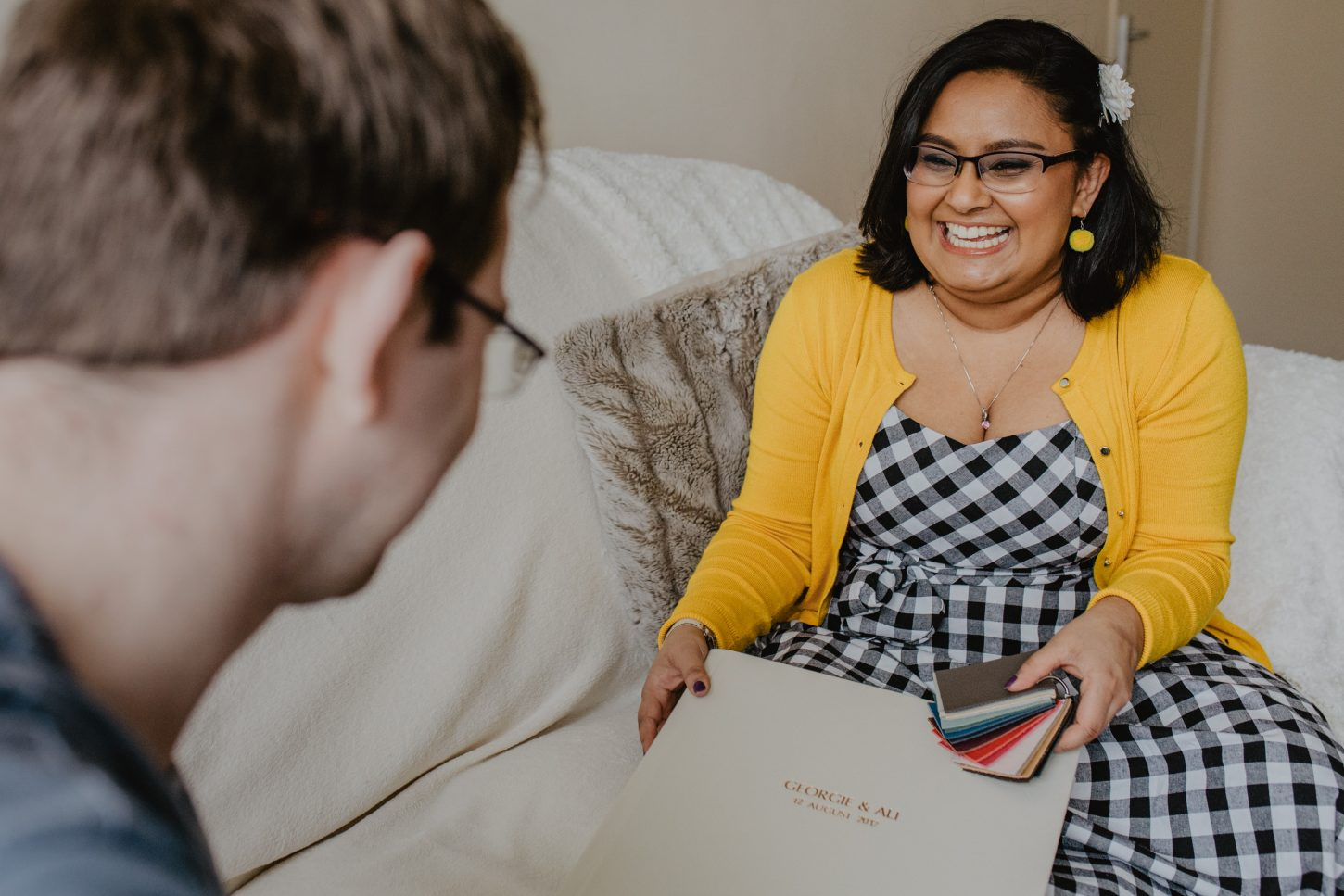 Self-portrait-wedding album consultation - nisha haq photography