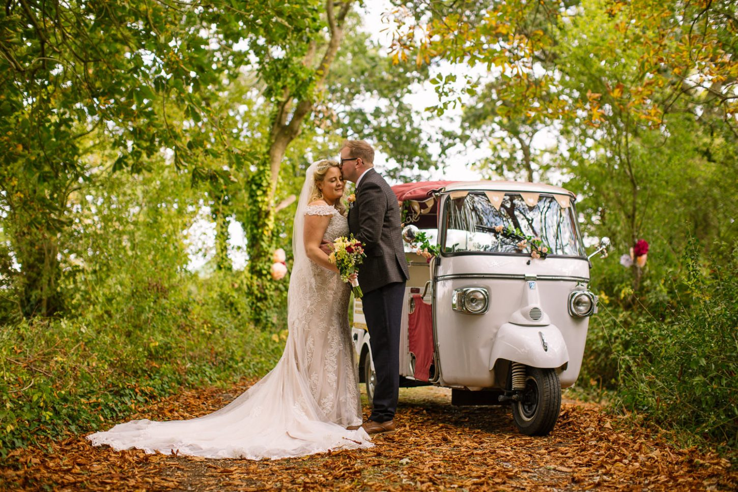 Tuk Tuk - Tournerbury Woods Wedding, Hampshire - Nisha Haq Photography