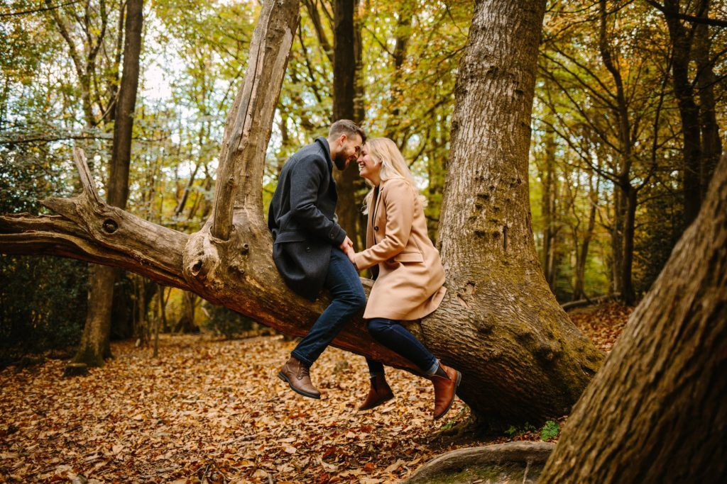 Forest of Bere Hampshire Fareham Portsmouth Engagement Session - Nisha Haq Photography