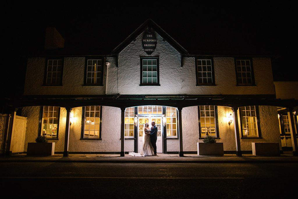 Nigh time portrait -Burford Bridge Hotel, Surrey - Nisha Haq Photography