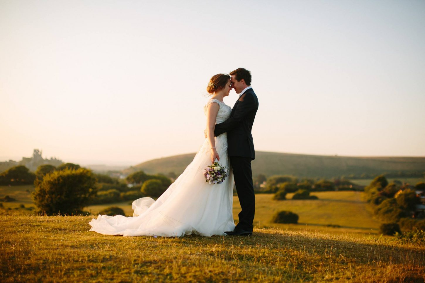 Corfe-Castle-Dorset-Summer-Wedding-Golden-Hour-Bride-Groom-Nisha-Haq-Photography